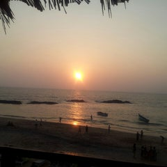 Photo taken at Anjuna Beach by Krupa M. on 2/25/2013
