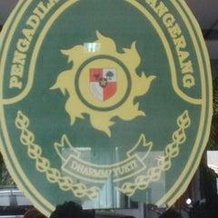 Photo taken at Pengadilan Negeri Tangerang by Abi Agung Z. on 9/9/2014