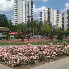 Photo taken at Park u bloku 62 by Sanja P. on 6/4/2014
