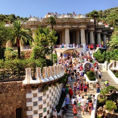 Photo taken at Park Güell by Nico K. on 7/23/2013
