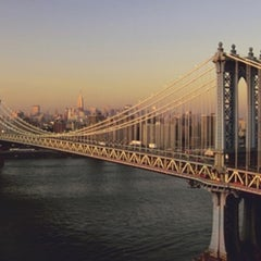 Photo taken at Manhattan Bridge by Dan S. on 1/22/2013