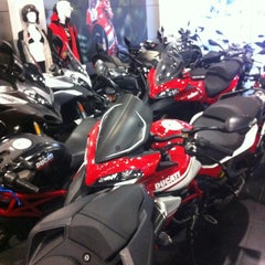 Photo taken at Ducati Triumph New York by Steve L. on 6/11/2013