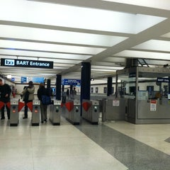 Photo taken at Montgomery St. BART Station by Christina H. on 10/27/2012