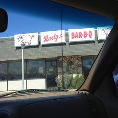 Photo taken at Rustys Bar-B-Q by Bruce B. on 3/12/2013