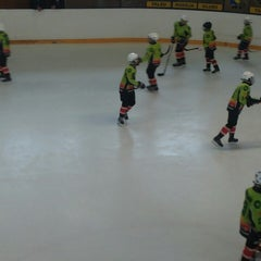 Photo taken at Talsu hokeja klubs (Talsi Ice Hockey club) by Elza Anna G. on 4/12/2015