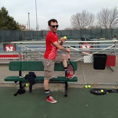 Photo taken at Varsity Tennis Courts by jp f. on 3/30/2014