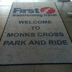 Photo taken at Monks Cross Park & Ride by Chris K. on 9/30/2013