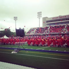 Photo taken at Kenneth P. LaValle Stadium by Crystal Z. on 5/24/2013