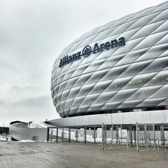 Photo taken at Allianz Arena by Jason Tse on 1/28/2013