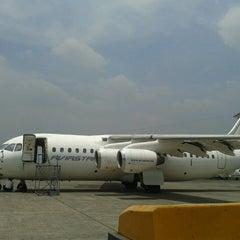 Photo taken at Bandar Udara Pondok Cabe (PCB) by Didik S. on 10/1/2013