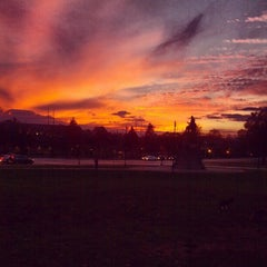 Photo taken at Lincoln Statue Dog Park by Alex U. on 11/18/2012