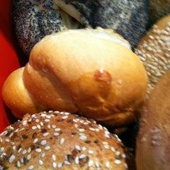 Photo taken at Einstein Bros Bagels by Dani L. on 12/19/2012