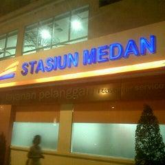 Photo taken at Stasiun Medan by Nda V. on 1/8/2013
