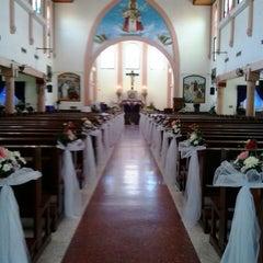 Photo taken at Gereja Katolik Kristus Raja by Marina Andrea T. on 3/15/2014
