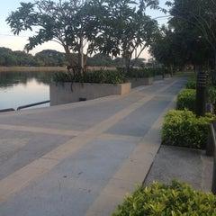 Photo taken at สวนนวมินทร์ภิรมย์ (บึงลำพังพวย) Nawaminphirom Park (Bueng Lam Phang Phuai) by Babi M. on 12/16/2012