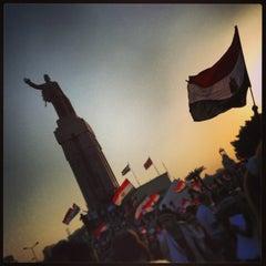 Photo taken at Tahrir Square   ميدان التحرير by Ghalia E. on 6/30/2013