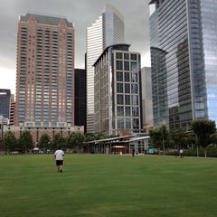 Photo taken at Discovery Green by Erik V. on 7/9/2013