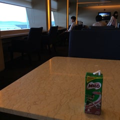 Photo taken at Cathay Pacific First and Business Class Lounge by Michael O. on 5/21/2015
