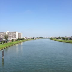 Photo taken at 飯塚橋 by ぱんだ on 9/12/2013