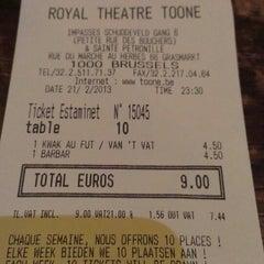 Photo taken at Koninklijk Theater Toone / Théâtre Royal de Toone by Alain S. on 2/21/2013