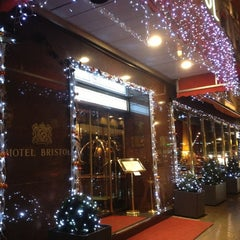 Photo taken at Hotel Bristol Geneva by Светлана Т. on 12/28/2012