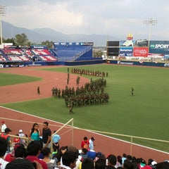 Photo taken at Estadio de Beisbol Eduardo Vasconcelos by Grupo L. on 5/12/2013