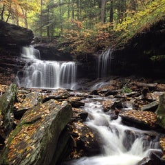 Photo taken at Ricketts Glen State Park by Aaron C. on 10/10/2012