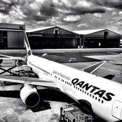 Photo taken at Qantas Club by Sara @. on 1/14/2013