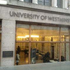 Photo taken at University of Westminster by Oxana on 1/25/2013