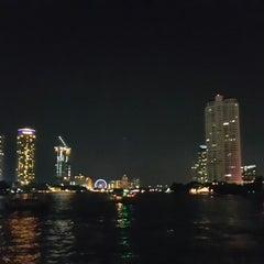 Photo taken at ท่าเรือสะพานตากสิน (Tak Sin Pier) by Tena P. on 12/2/2015