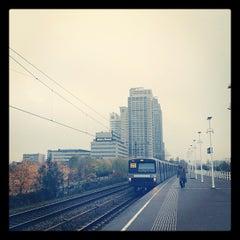Photo taken at Metrostation Spaklerweg by Tom A. on 11/15/2012