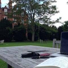 Photo taken at Newnham College by Amir C. on 6/1/2014