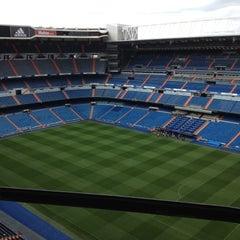 Photo taken at Estadio Santiago Bernabéu by Кирилл Г. on 4/27/2013