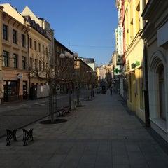 Photo taken at Ostrožná | Pěší zóna by Pavel Z. on 3/27/2016