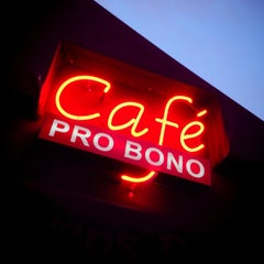 Photo taken at Cafe Pro Bono by Ron v. on 3/21/2014