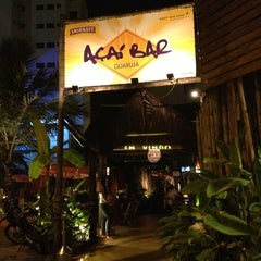 Photo taken at Açaí Bar Guarujá by Jéssica P. on 1/25/2013