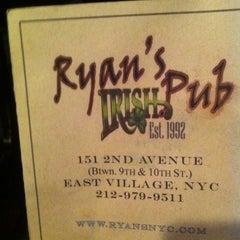 Photo taken at Ryan's Irish Pub by Ryan B. on 11/19/2011
