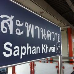 Photo taken at BTS สะพานควาย (Saphan Khwai) N7 by Mitamura A. on 8/23/2013
