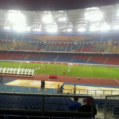 Photo taken at Stadium Nasional Bukit Jalil by Nasz N. on 7/16/2013
