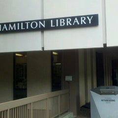Photo taken at Hamilton Library by Harry C. on 9/14/2014