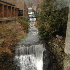 Photo taken at Ancaster Old Mill by Haley L. on 12/21/2012