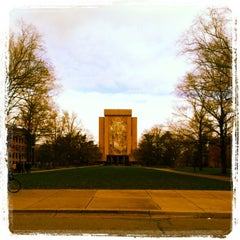 Photo taken at Hesburgh Library by Kristin K. on 11/2/2012