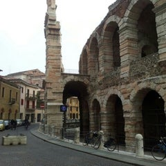 Photo taken at Arena di Verona by Татьяна А. on 3/1/2013