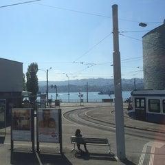 Photo taken at Bahnhof Zürich Tiefenbrunnen by Urs K. on 9/16/2014