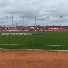 Photo taken at Estádio Municipal José Nazareno do Nascimento (Nazarenão) by Iuri S. on 3/3/2013