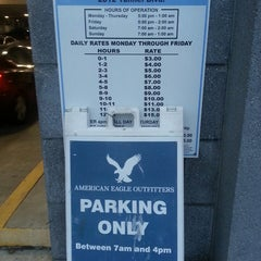 Photo taken at American Eagle Parking Garage by Amber S. on 2/19/2013