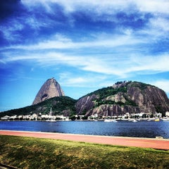 Photo taken at Enseada de Botafogo by Daniel V. on 4/17/2013