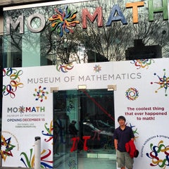 Photo taken at Museum of Mathematics (MoMath) by Jeffrey W. on 1/19/2013