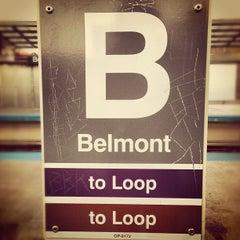 Photo taken at CTA - Belmont by Tim W. on 10/17/2012