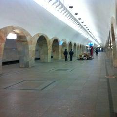 Photo taken at Метро Кузнецкий мост (metro Kuznetsky Most) by Сергей Л. on 3/12/2013